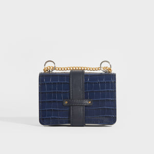 CHLOÉ Mini Aby Chain Crocodile-effect Shoulder Bag