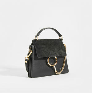 CHLOÉ Small Faye Tote in Black Leather
