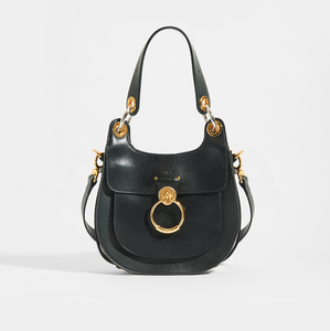 CHLOÉ Tess Hobo in Black Leather