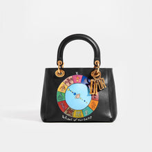 Load image into Gallery viewer, DIOR Vintage Lady Dior Wheel of Fortune Bag in Black leather with hand-painted detail