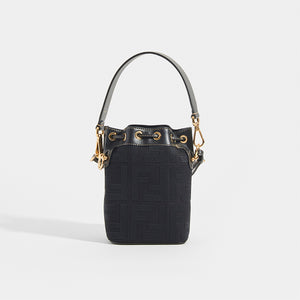 FENDI Mon Tresor Mini FF Logo Bucket Bag