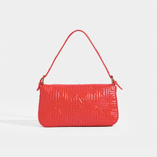 Load image into Gallery viewer, FENDI Vintage Red Leather Baguette Bag - Rear View