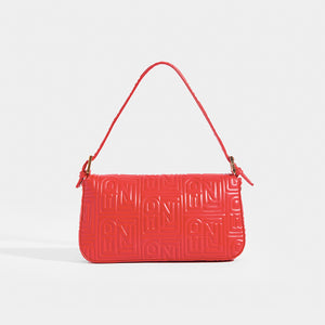 FENDI Vintage Red Leather Baguette Bag - Rear View