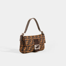 Load image into Gallery viewer, FENDI Vintage Zucca Print Baguette - Side View