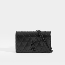 Load image into Gallery viewer, SAINT LAURENT Angie Quilted Leather Shoulder Bag