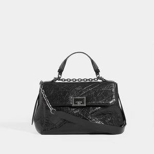 GIVENCHY ID Medium Quilted Glossed-Leather Shoulder Bag