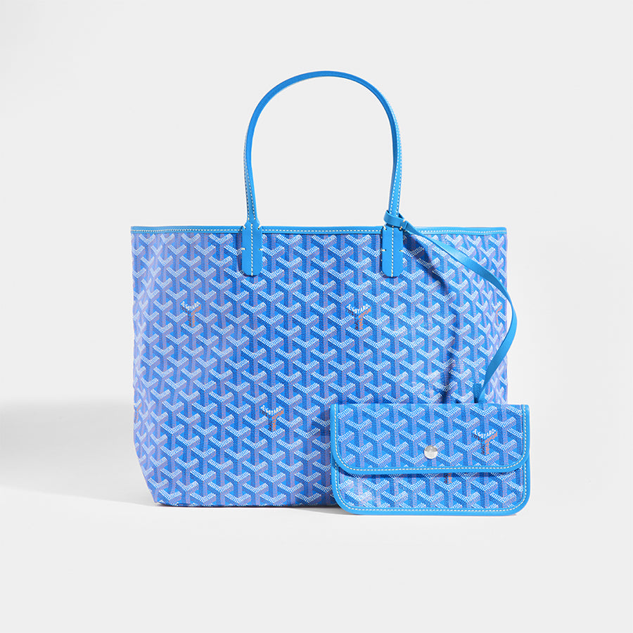 GOYARD Saint-Louis PM Tote Bag in Blue