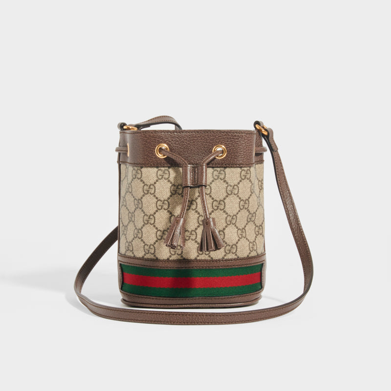 GUCCI Mini Ophidia GG Supreme Bucket Bag
