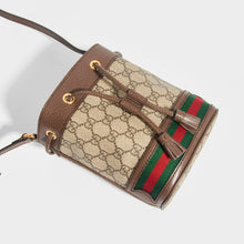 Load image into Gallery viewer, GUCCI Mini Ophidia GG Supreme Bucket Bag