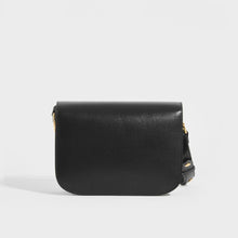 Load image into Gallery viewer, Back of the GUCCI 1955 Horsebit Shoulder Bag in Black Leather