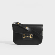Load image into Gallery viewer, GUCCI 1955 Horsebit Shoulder Bag in Black Leather