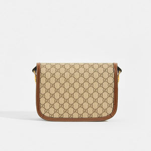 GUCCI 1955 Horsebit Shoulder Bag in Canvas - Rear View