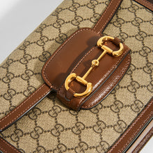Load image into Gallery viewer, GUCCI 1955 Horsebit Shoulder Bag in Canvas - Close Up