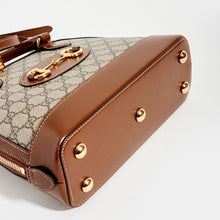 Load image into Gallery viewer, Botton detail of the GUCCI 1955 Horsebit Small Top Handle Bag