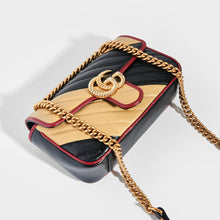 Load image into Gallery viewer, GUCCI GG Marmont Mini Shoulder Bag Quilted Leather in Nude/Black