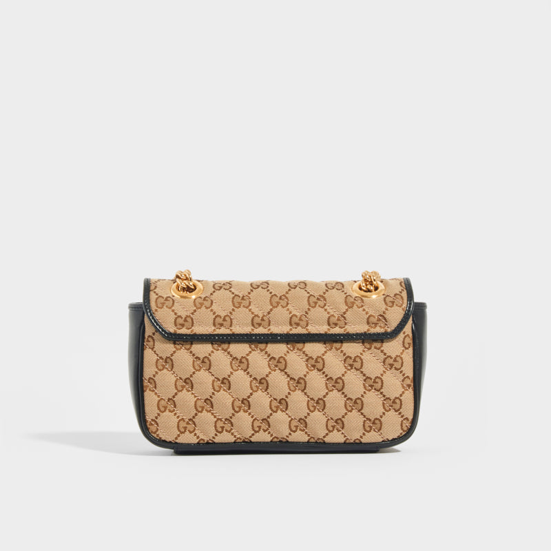 GUCCI GG Marmont Mini Shoulder Bag in Original GG Canvas