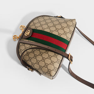 Top view of GUCCI Ophidia Coated Canvas Shoulder Bag