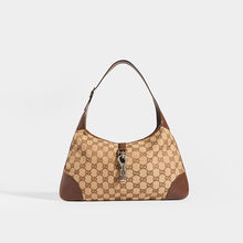 Load image into Gallery viewer, GUCCI Vintage Jackie Small Canvas Handbag in Brown - front view