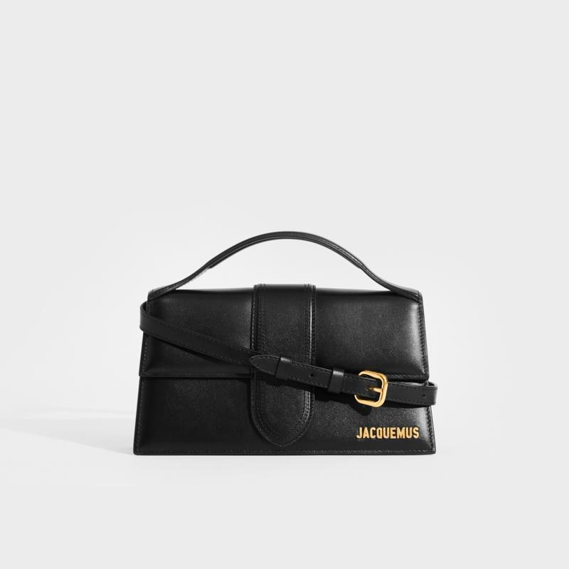JACQUEMUS Le Grand Bambino in Black Leather