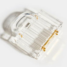 Load image into Gallery viewer, L'AFSHAR Lucite Pagoda Top Handle Clutch