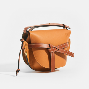 LOEWE Gate Small Crossbody in Tan Leather