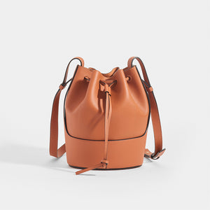 LOEWE Balloon Small Bucket Bag in Tan Leather