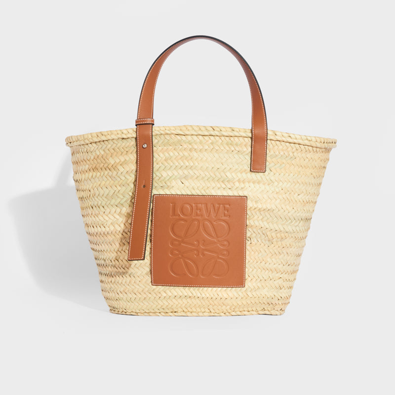 LOEWE Large Basket Bag in Tan