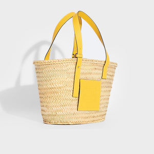 LOEWE Large Basket Bag in Yellow