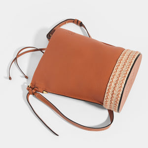 LOEWE X Paula's Ibiza Gate Bucket bag in Tan - Top View