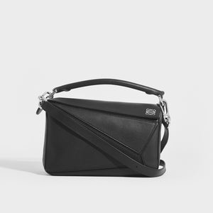 LOEWE Puzzle Small Smooth Leather Bag in Black