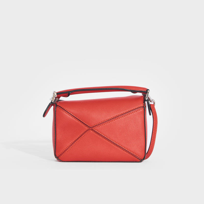 LOEWE Puzzle Mini Leather Shoulder Bag in Pomelo