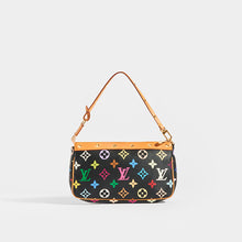Load image into Gallery viewer, Rear of LOUIS VUITTON x Takashi Murakami Pochette in Black Multi