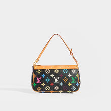 Load image into Gallery viewer, Front of LOUIS VUITTON x Takashi Murakami Pochette in Black Multi