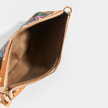 Load image into Gallery viewer, Inside of LOUIS VUITTON x Takashi Murakami Pochette in Black Multi