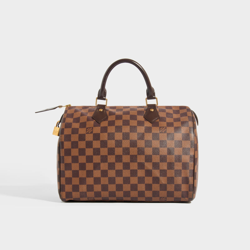 LOUIS VUITTON Speedy 30 in Damier Ebène Canvas