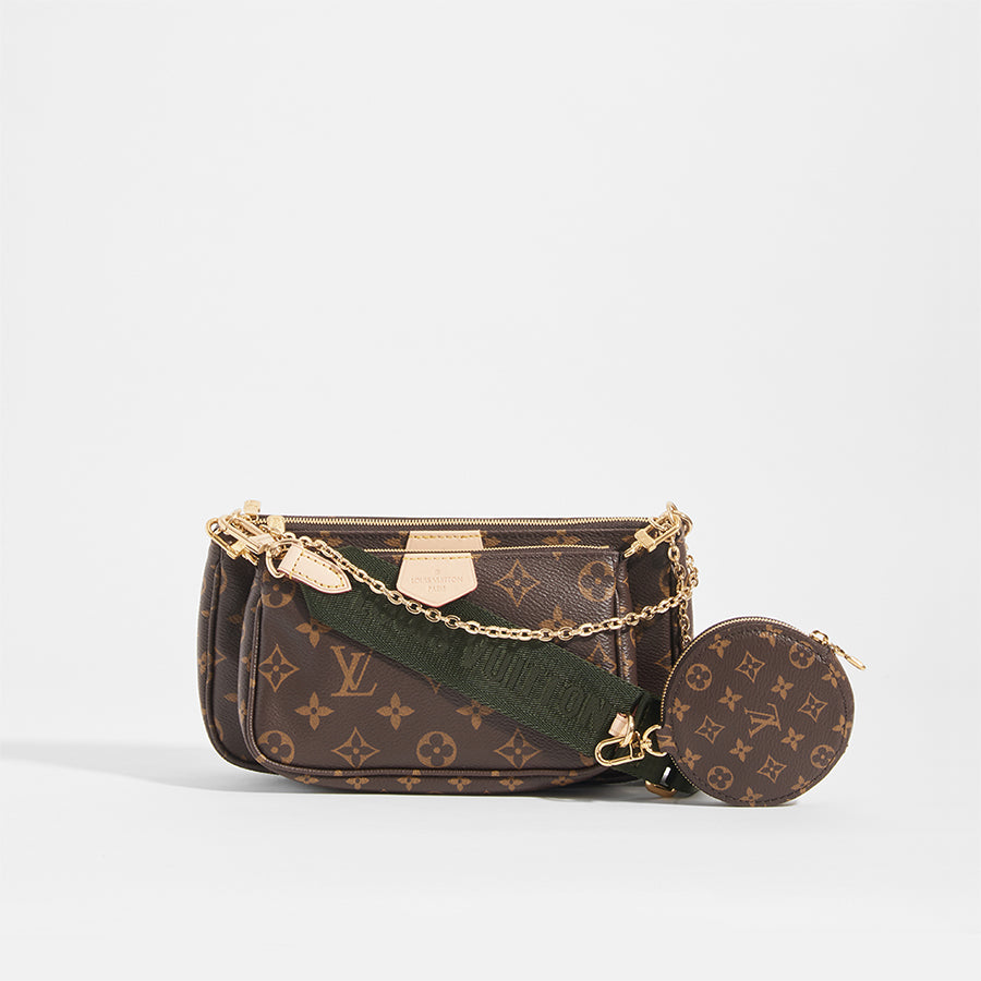 LOUIS VUITTON Multi Pochette Bag with Khaki Strap