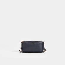 Load image into Gallery viewer, LUTZ MORRIS Elise Small Shoulder Chain Bag in Navy Croc Embossed Leather
