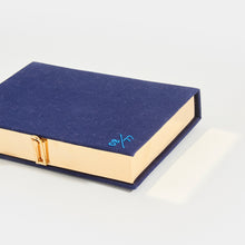Load image into Gallery viewer, OLYMPIA LE-TAN Book Clutch Mykonos in Blue
