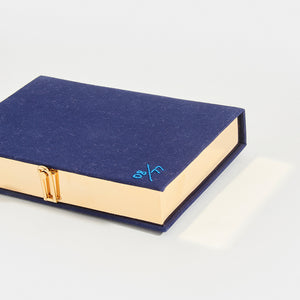 OLYMPIA LE-TAN Book Clutch Mykonos in Blue