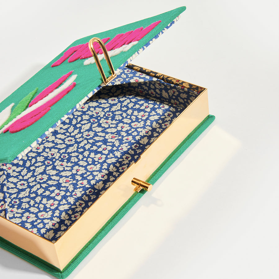 OLYMPIA LE-TAN Book Clutch Tulum in Green