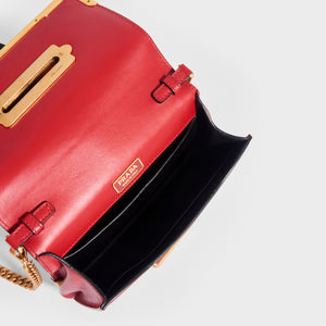 PRADA Cahier Leather Crossbody Bag