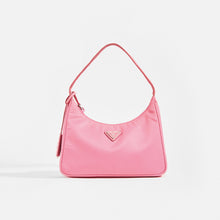 Load image into Gallery viewer, PRADA Hobo Bag in Pink Nylon Front View