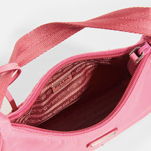 Load image into Gallery viewer, PRADA Hobo Bag in Pink Nylon Interior