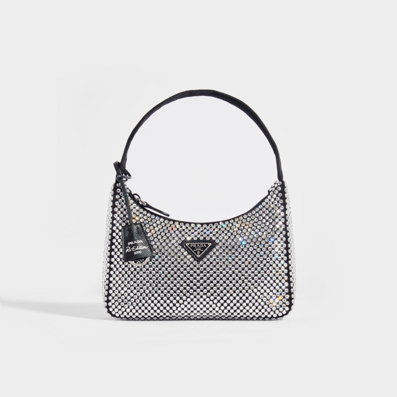 PRADA Hobo Re-Edition 2000 Nylon with Crystals