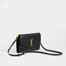 Load image into Gallery viewer, SAINT LAURENT Uptown Mini Crossbody in Black Grained Leather