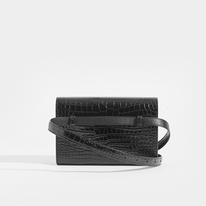 SAINT LAURENT Kate Belt Bag in Croc Embossed Leather