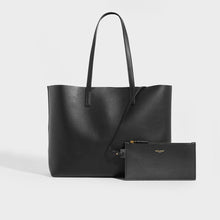 Load image into Gallery viewer, SAINT LAURENT Large Shopper Tote in Black Textured Leather
