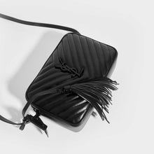 Load image into Gallery viewer, SAINT LAURENT Lou Quilted Cross Body Bag in Black Leather with Black Hardware