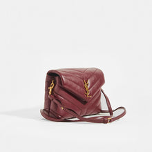 Load image into Gallery viewer, SAINT LAURENT Toy LouLou Shoulder Bag in Dark Red Leather