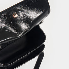 Load image into Gallery viewer, SAINT LAURENT Niki Baby in Crinkled Leather in Black